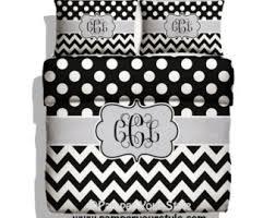 Black And White Chevron Bedding Twin Xl Bedding College Bedding Customized College Bedding
