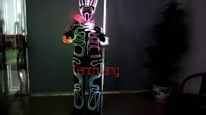 Tron Halloween Costume Light Up by Tc 053 Led Robot Costume Suit Tron Dance Suit Not El Wire Youtube