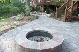 stone patio fireplace outdoor stone fireplace and stone pathway