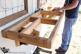 Folding Bracket For Tables And Benches Fold Up Potting Bench The Wood Grain Cottage