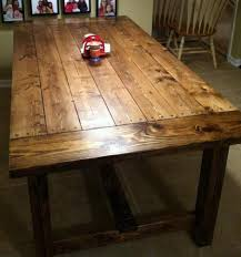 rustic farmhouse kitchen tables farm table with drawer plans from