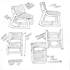 cox design chair view sketch