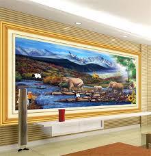 online get cheap background landscape kids aliexpress com custom 3d photo wallpaper mural elephant river landscape painting tv background wall large wallpaper kids room