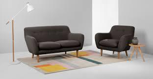 DYLAN  Seater Sofa Marl Grey Madecom - Dylan sofa
