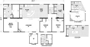 Floor Plans For Mobile Homes Double Wide Drummond 26 X 56 1474 Sqft Mobile Home Factory Expo Home Centers
