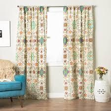 Teal Living Room Curtains Floral Curtains U0026 Drapes Shop The Best Deals For Nov 2017