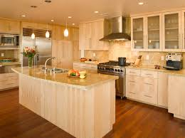pictures of kitchens with maple cabinets kitchen pretty modern kitchen with maple cabinets and quartz