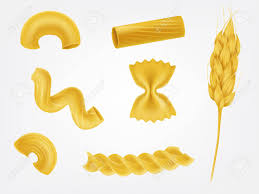 cuisine types various types and shapes pasta noodles and macaroni with cereal