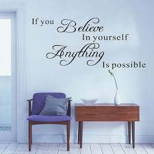 online buy wholesale believe in yourself wall decor vinyl wall art