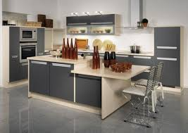 kitchen decor grey island also cabinetry with granite countertop