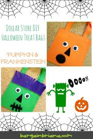 dollar store diy halloween treat bags bargainbriana