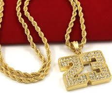 necklace rope images Mens gold iced out 23 basketball pendant 24 quot rope chain hip hop jpg