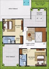 bougainvillea villas by infrany ventures first floor plan 40x50 first floor west