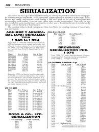 gun manufacturer date sheet revolver firearms