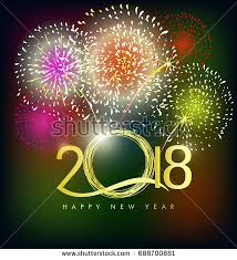 happy new year s greeting cards happy new year 2018 greeting card stock vector 688700881