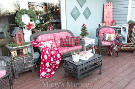 outside decorations inexpensive deck decorating ideas for christmas marty s musings