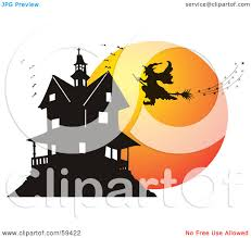 haunted mansion clipart royalty free rf clipart illustration of a silhouetted witch