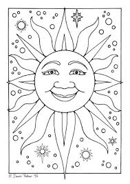 161 sun moon stars coloring images sun