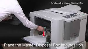 riso cv instruction of emptying the master disposal box riso