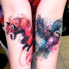 75 best watercolour fox tattoo images on pinterest watercolor
