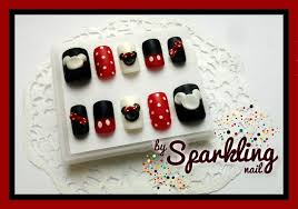 mickey u0026 minnie mouse nail nail art gallery