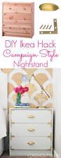 diy campaign style nightstands ikea rast hack