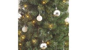 White Christmas Decorations Asda by 5ft Pop Up Pre Lit Led Christmas Tree Silver And White Baubles
