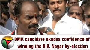 Exudes by Dmk Candidate Exudes Confidence Of Winning The R K Nagar By