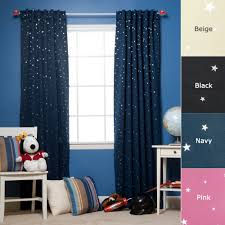 Blackout Navy Curtains Best Home Fashion Print Thermal Insulated
