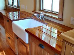 interior varnished hickory butcher block island top which laminated butcher block