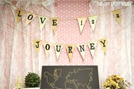 travel theme decor how to throw a travel themed bridal shower on a budget
