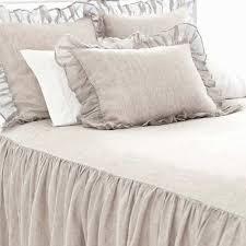 Grey Linen Bedding Savannah Linen Chambray Dove Grey Bedspread Pine Cone Hill