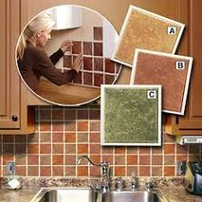 Peel  Stick Backsplash Glass Tile Bamboo Dark Peel  Stick - Kitchen backsplash peel and stick