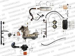 roketa gk 39 engine and exhaust assembly parts
