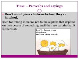 Never Count Your Chicken Before They Hatch Proverbs