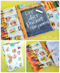 diy art packet with free sewing pattern