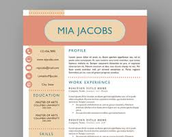 Stand Out Resumes Colorful Resume Etsy