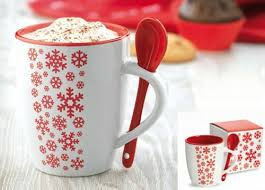 christmas mug merano christmas mug with ceramic spoon uk printed merchandise