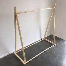 Solid Wood Bed Frame Nz Solid Pine Clothing Rack A Frame Clothes Rack Garment Rack