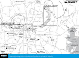 Map Of Tennessee by Free Printable Map Of Nashville Attractions From Tripomaticcom