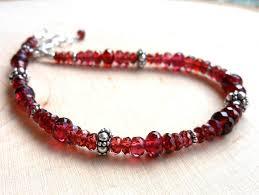 garnet bracelet images Garnet stacking bracelet sterling silver red gemstone bracelet jpg