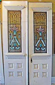 stained glass internal doors an interior door design with simple pattern stained glass panel in