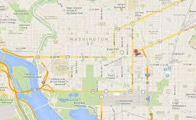 Map Washington Dc Washington Dc American University College Town Map Pint Glass Map