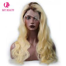 are there any full wigs made from human kinky hair that is styled in a two strand twist for black woman hot beauty hair t4 613 blonde color 18 24 inch brazilian body wave