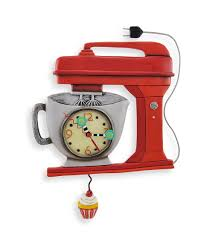 amazon com allen designs red vintage kitchen mixer wall clock