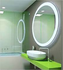amazing modern circle bathroom mirrors ideas with led lights also