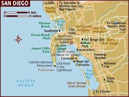 map usa lonely planet map of san diego