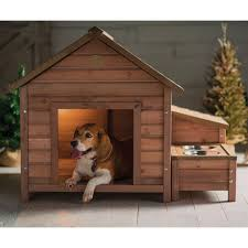 wood a frame dog house with food bowl and storage homebody u0027s