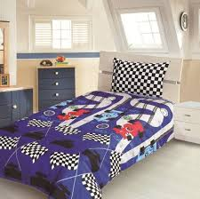 Cot Bed Duvet Cover Boys Children U0027s Kids Single Bed Size Racing Car Design Boys Duvet Cover