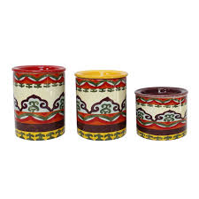 3 kitchen canister set ceramica galicia 3 kitchen canister set wayfair